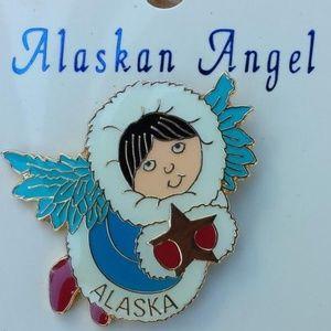 Alaskan Angel Enamel Pin and Poem